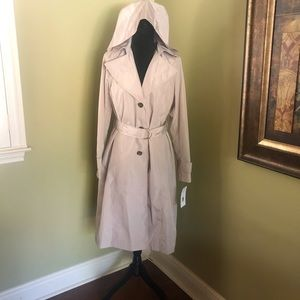 Via Spiga Belted Trench Coat Size Small